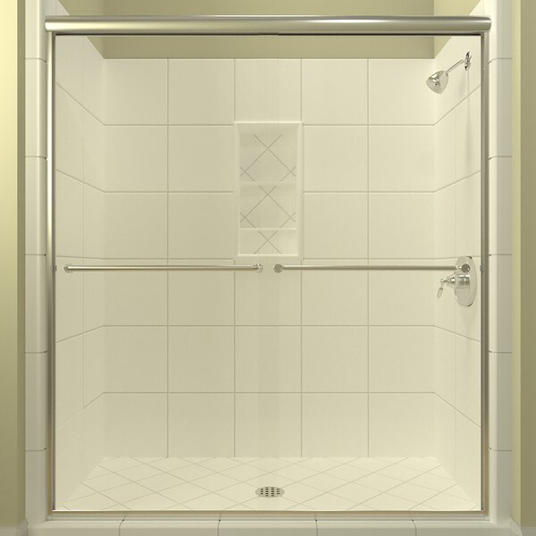 Leser Bypass Semi-Frameless Shower Door by Arizona Shower Door