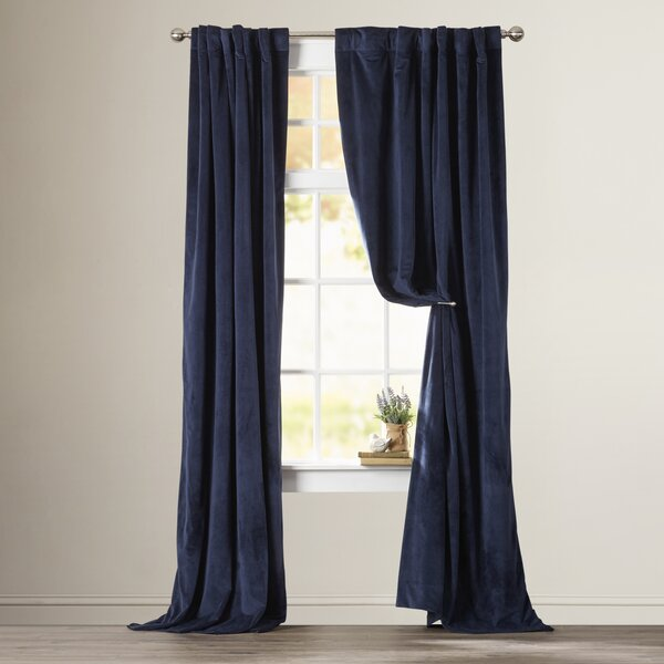Albert Solid Velvet Blackout Thermal Rod Pocket Single Curtain Panel by Laurel Foundry Modern Farmhouse