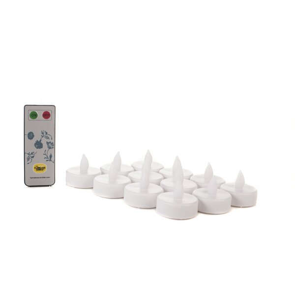 12 Piece Tea Lights Set with Remote by Alcott Hill