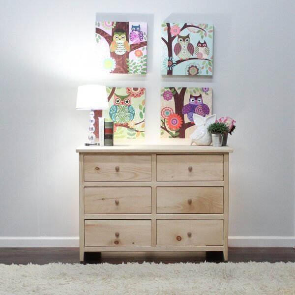 Zanna 6 Drawer Double Dresser by Highland Dunes