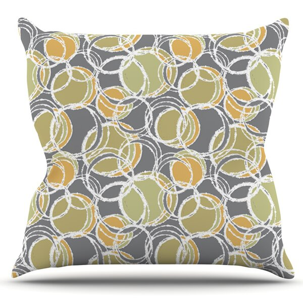 Simple Circles by Julia Grifol Outdoor Throw Pillow by East Urban Home