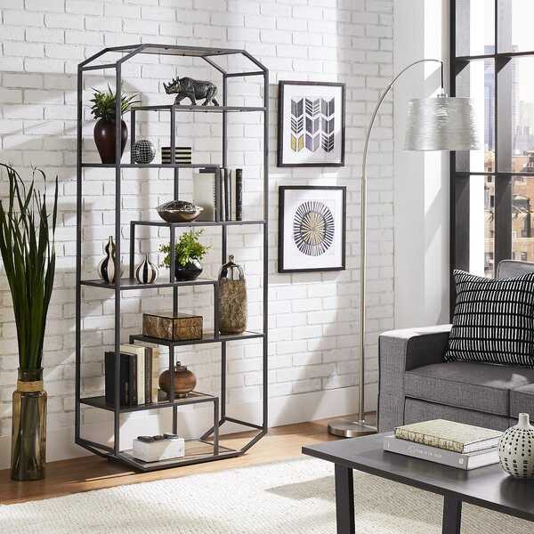 Frithgaest Metal Clipped Corner Etagere Bookcase By Gracie Oaks