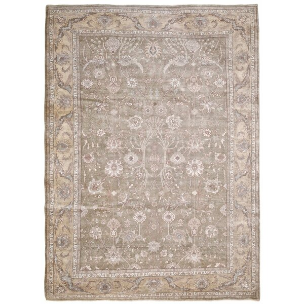 Casimir Ushak Hand-Knotted Wool Gray Area Rug