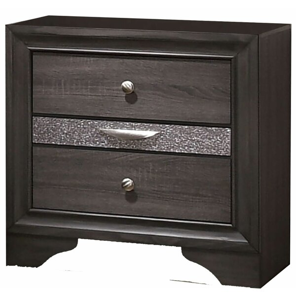 Leann Wooden 2 Drawer Nightstand by Mercer41