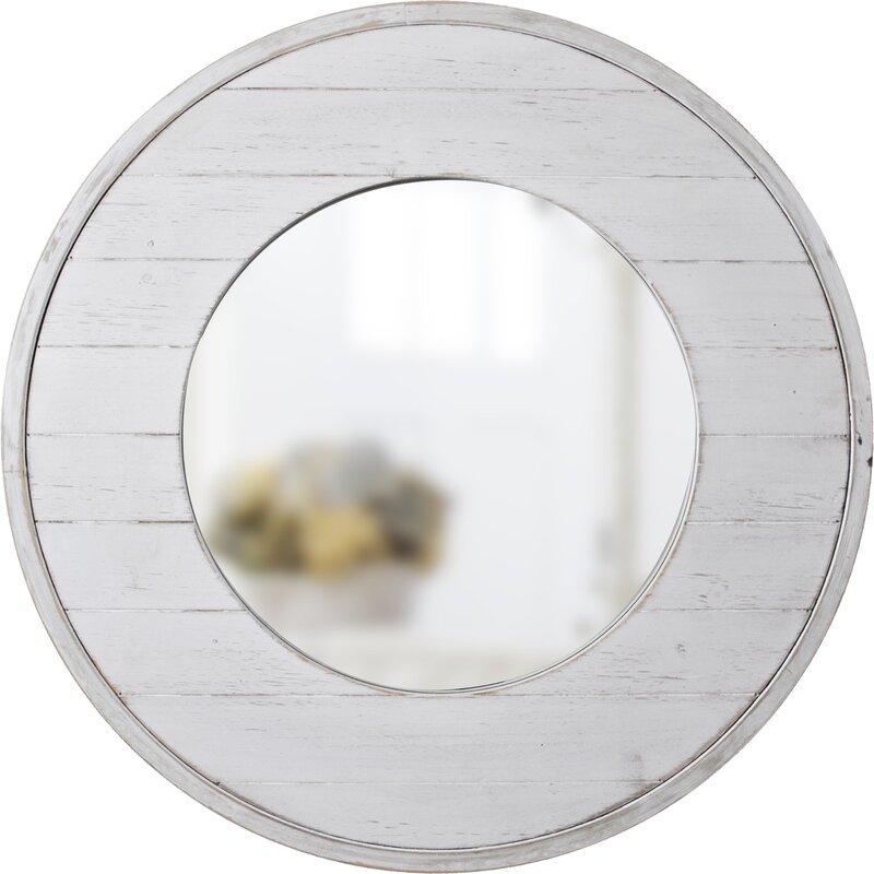 Andrade Shiplap Coastal Distressed Accent Mirror