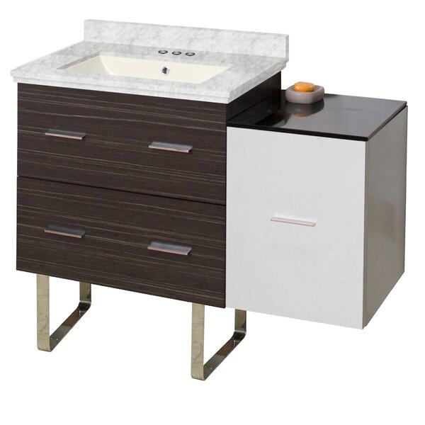 Phoebe 3 Drawers Drilling Floor Mount 38 Single Left Bathroom Vanity Set by Orren Ellis