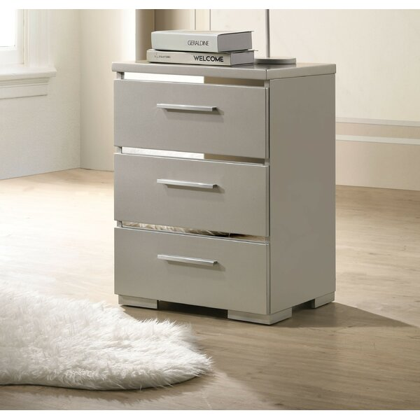 Sprinkel 3 Drawer Nightstand by Orren Ellis