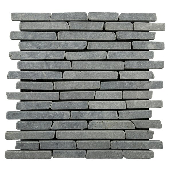 Natural Stone Sticks Random Sized Mosaic Tile Tile in Grey by Pebble Tile