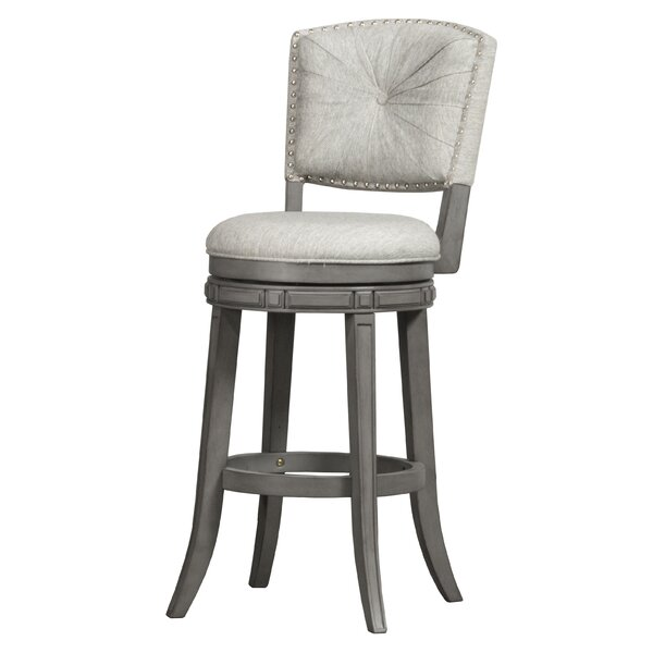 Kiefer 30 Swivel Bar Stool by Alcott Hill
