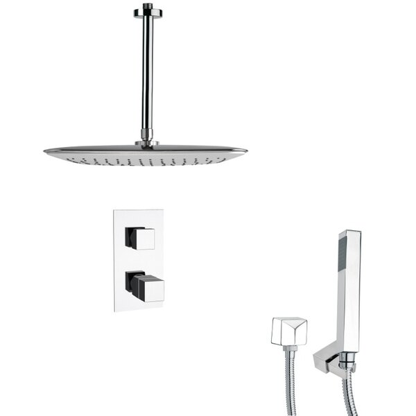 Orsino Thermostatic Complete Shower System With Rough-in Valve By Remer By Nameek's