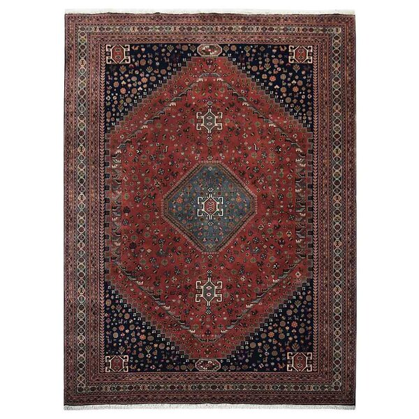 Shephard Hand-Knotted Wool Rust Area Rug by Astoria Grand