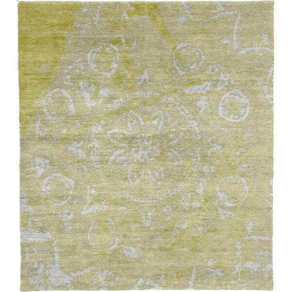 One-of-a-Kind Beauford Hand-Knotted Yellow 12' x 18' Area Rug