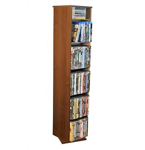 Revolving Media Library in Dark Walnut by Venture Horizon