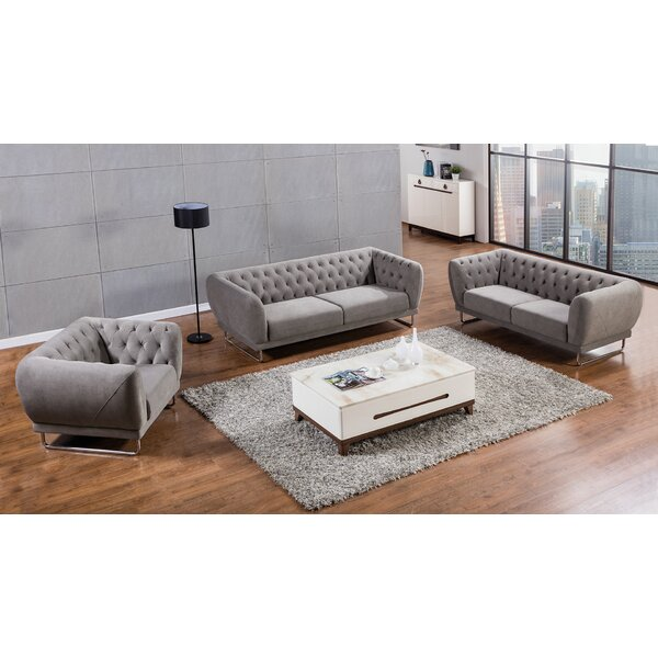 Glantz 3 Piece Living Room Set by Orren Ellis