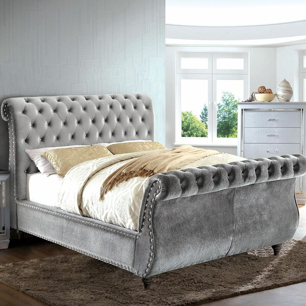 Washburn Upholstered Sleigh Bed by Rosdorf Park