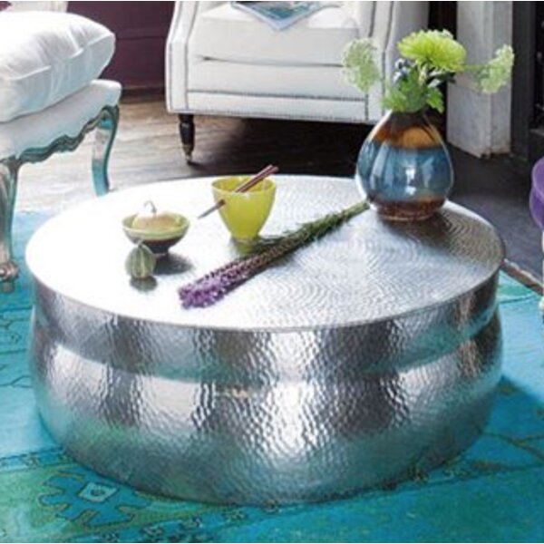 Kasbah Hammered Coffee Table by Fashion N You by Horizon Interseas