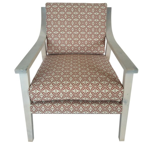 Purpura Upholstered Wood Armchair by Latitude Run