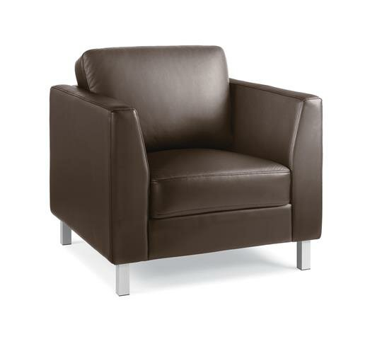 Lincoln Leather Lounge Chair by Steelcase