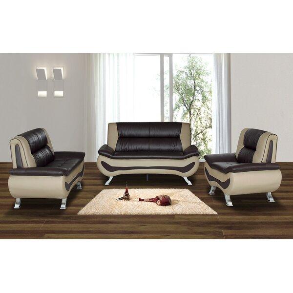 Laisha 3 Piece Living Room Set by Wade Logan Wade Logan