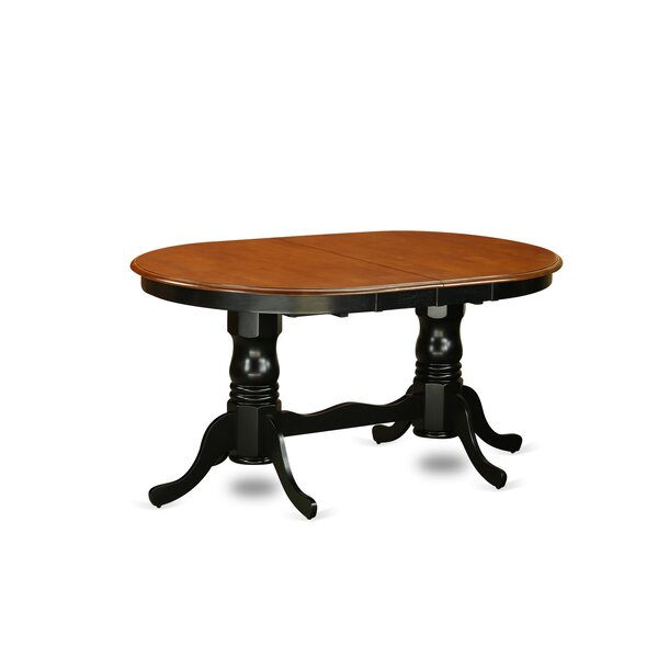 Pilcher Extendable Solid Wood Dining Table by August Grove
