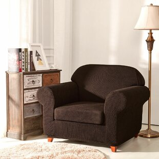 Raised Dots Box Cushion Armchair Slipcover