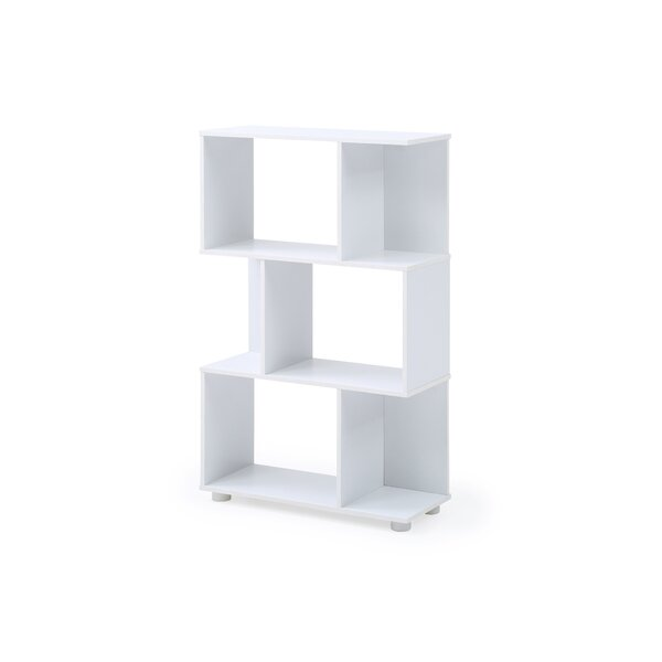Debolt Staggered 3 Shelf Geometric Bookcase By Orren Ellis