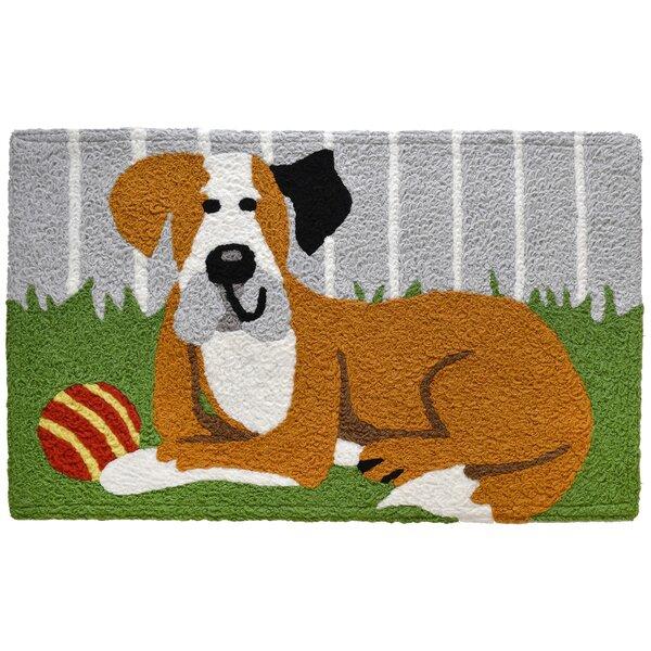 Waldrup Happy Hound Dog Rectangle Bath Rug