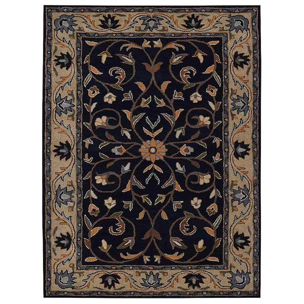 Creamer Hand-Tufted  Blue/Beige Area Rug by Darby Home Co