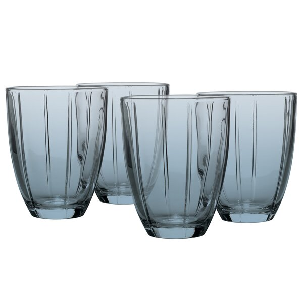 Color-wave 12 oz. Glass Cocktail Glasses (Set of 4) by Noritake