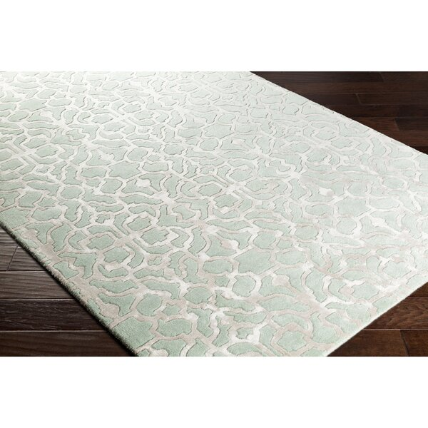 Silvera Hand-Tufted Green/Gray Area Rug by Alcott Hill