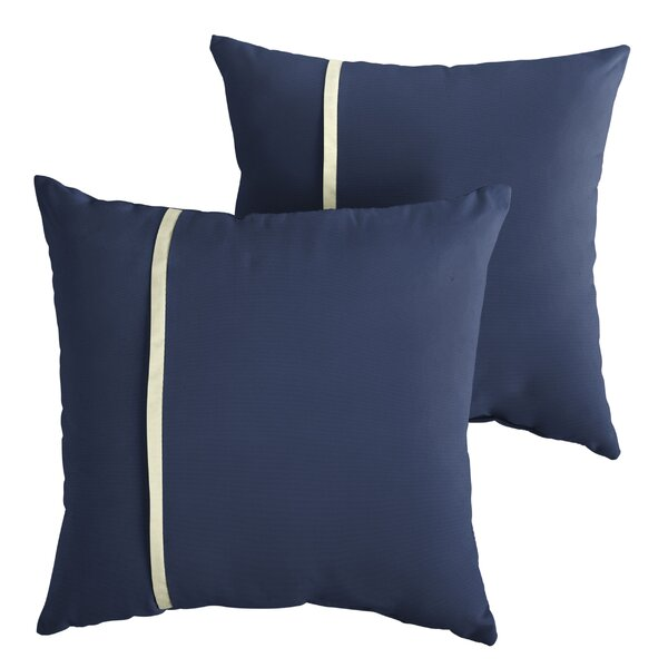 Annapolis Indoor/Outdoor Throw Pillow (Set of 2) by Longshore Tides