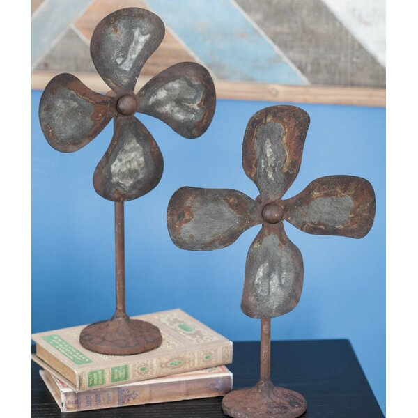Finlay Industrial 2 Piece Sculpture Set by Breakwater Bay