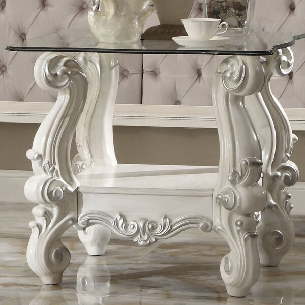 Welton Traditional End Table By Astoria Grand