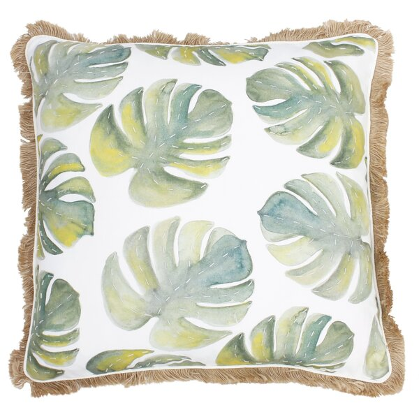 Kleckner Watercolor Beaded Lumbar Pillow by Bayou Breeze