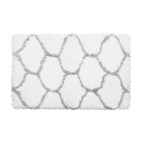 Alfred Chunky Shag Gray/White Area Rug by Vista Living