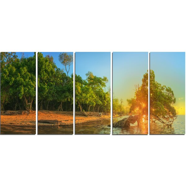 Beautiful Thailand Tropical Beach 5 Piece Wall Art on Wrapped Canvas Set by Design Art