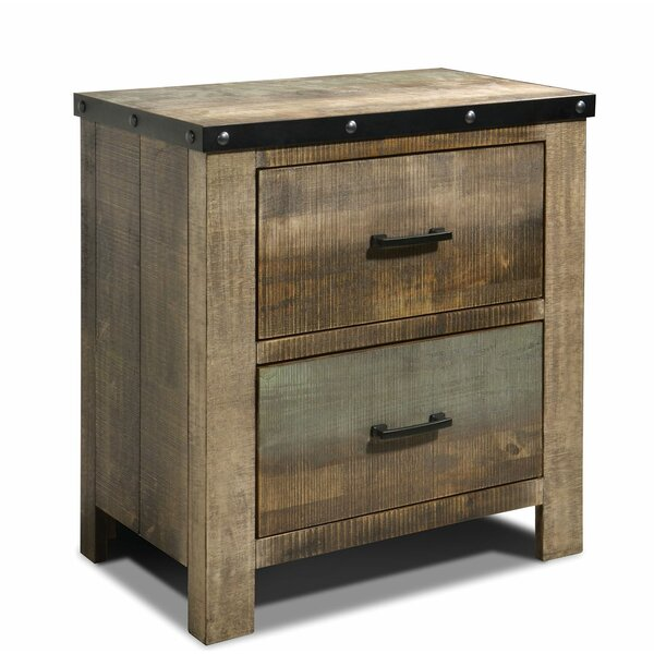 Cecere 2 Drawers Nightstand By Highland Dunes by Highland Dunes