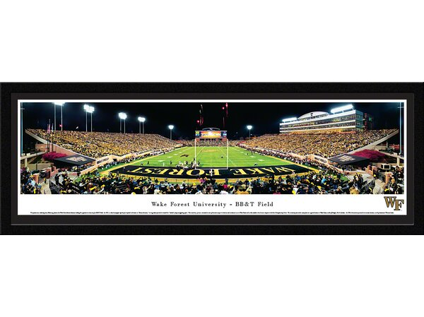 NCAA Wake Forest University - End Zone by James Blakeway Framed Photographic Print by Blakeway Worldwide Panoramas, Inc