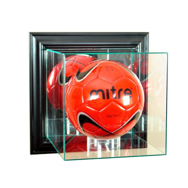 Wall Mounted Soccer Display Case by Perfect Cases and Frames