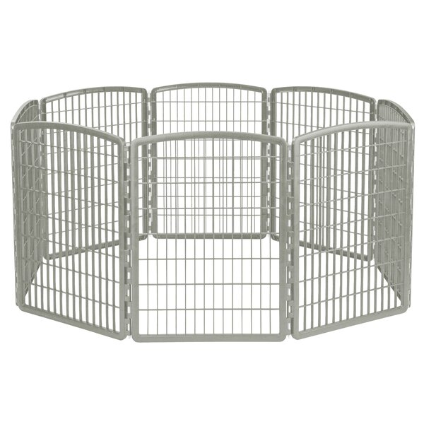 Ridgefield 8 Panel Plastic Pet Pen by Tucker Murphy Pet