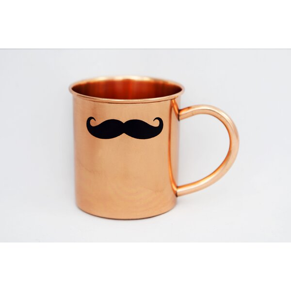 14 oz Copper Mustache Mule Mug by Alchemade