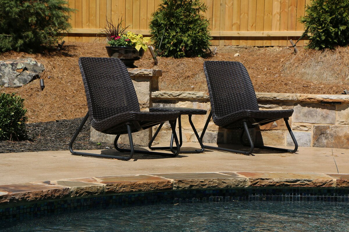 Wonderful Cater All Weather 3 Piece Lounger Seating Set