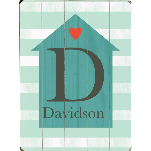 Personalized Family House Graphic Art Print Multi-Piece Image on Wood by Artehouse LLC