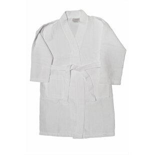 Kimono Cotton Blend Waffle Bathrobe f16701913