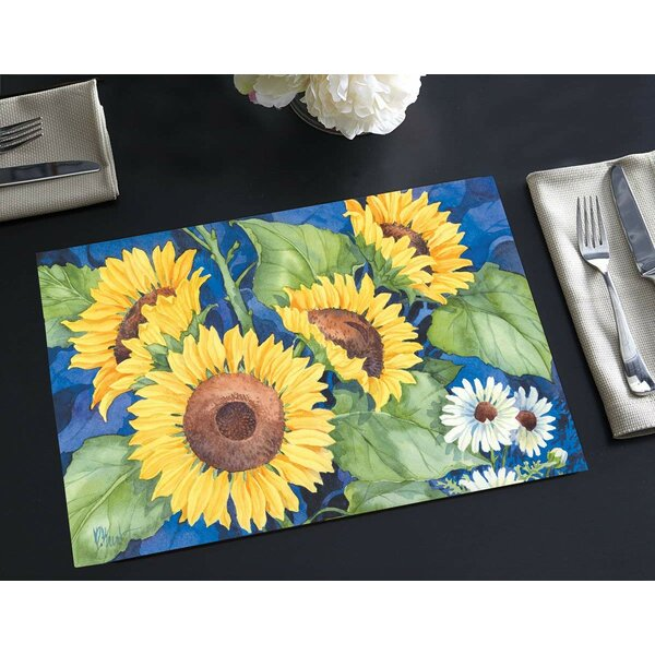 Sol Disposable Paper Sunflowers 18 Placemat (Set of 24) by August Grove