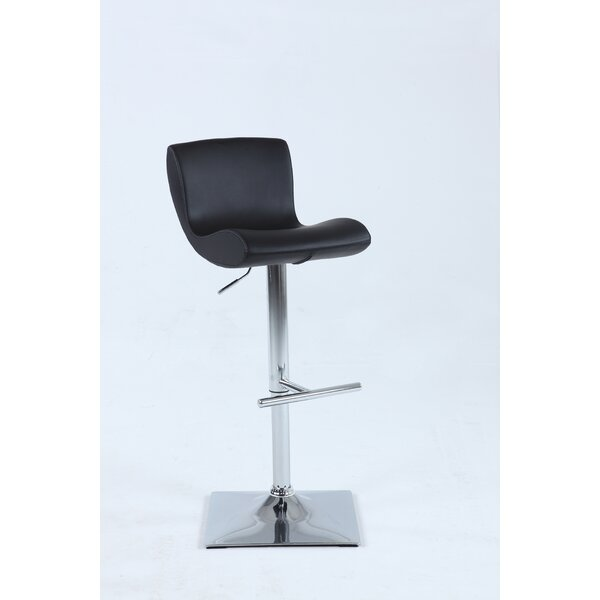 Deric Adjustable Height Swivel Bar Stool by Orren Ellis