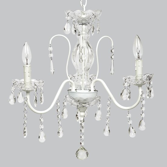 Jewel 3-Light Candle Style Chandelier by Jubilee Collection