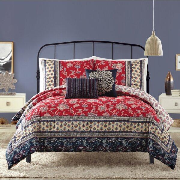 Hofer Cotton 5 Piece Reversible Comforter Set