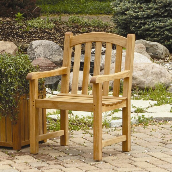 Victoria Teak Patio Chair by Three Birds Casual