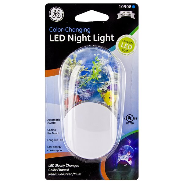 Color Changing LED Night Light by Jasco